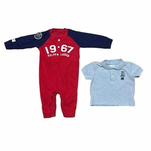 Ralph Lauren baby boy romper and polo shirt bundle